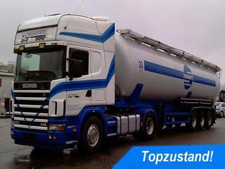 Scania 124  - 440 Topline KOMPLETTZUG SILO 29631 EUR Nathan Amanatidis Nutzfahrzeuge